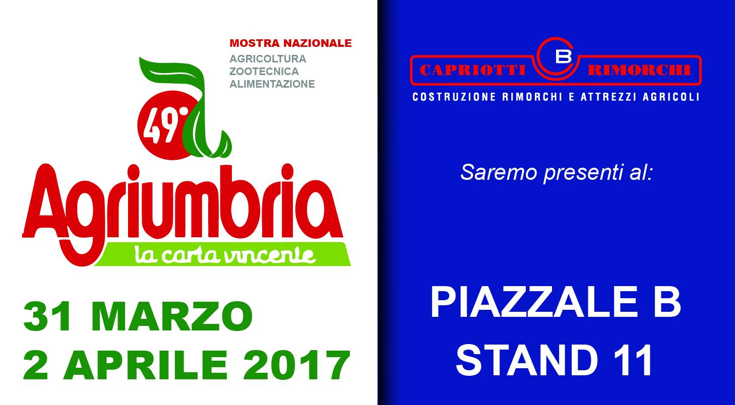 Agriumbria 31 marzo 2 aprile 2017 capriotti rimorchi for Capriotti rimorchi agricoli